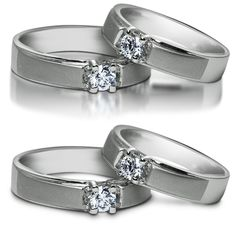 Two version the shadow - gold weddings rings