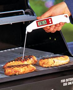 Make sure your food is cooked to the right temperature with this Folding #Thermometer. Its stainless steel needle folds up and locks in place when not in use. #kitchen #gadget
