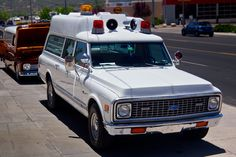 """A Chevy with a 12"""" raised roof and the Ford van were the first 2 rigs I worked in that was run by a funeral home ambulance service.  Before I was a medic and even an EMT.  Advanced first aid and a couple of civil defense courses on deliveries was all that was required.  Those were some scary times and I think we were lucky to save any lives but the old adage, just transport and you can't go wrong."""