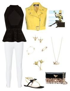 """Chloe Bee Casual"" by indigodash on Polyvore featuring Jeremy Scott, rag & bone, Roland Mouret, Gucci, Dolce&Gabbana, Alex Monroe, Chaumet and Sydney Evan"