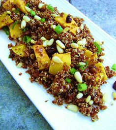 Inspired Edibles: Red Quinoa with Dates, Pine Nuts and roasted Butternut Squash