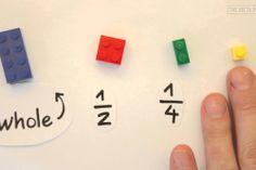 Apprendre les fractions avec des Lego