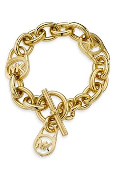 Michael Kors Logo Toggle Bracelet available at #Nordstrom