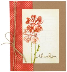 Stamped Thank You Card - From October Card Chaos Class - Click through for project instructions.