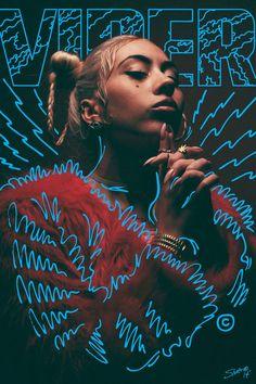 New music poster design ideas graphic designers 60 Ideas Graphisches Design, Buch Design, Layout Design, Design Ideas, Interior Design, Neon Design, Line Design, Design Trends, Kali Uchis