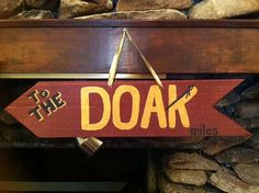 FSU Seminoles Garnet & Gold Directional Arrow with Your Mileage to DOAK Stadium on Etsy, $30.00