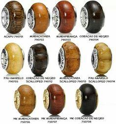 Pandora wooden beads collection
