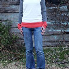 Multi-Colored Orange Sweater