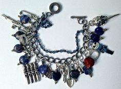 FREE shipping Lapis  Zombie Survival bracelet by pinkflamingo61, $34.00