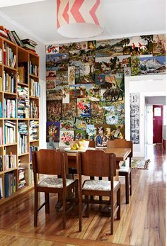 vintage paintings/embroidery wall