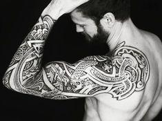 #tattoo #norsemythology #ragnarok #Jörmungandr #odin #fenris #meatshoptattoo #sleevetattoo