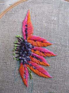embroidery flowers by elsy965, via Flickr