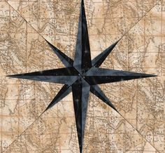 Compass Needle Paper Piecing Quilt Block Pattern + Free Video Tutorial by Kaye Wood