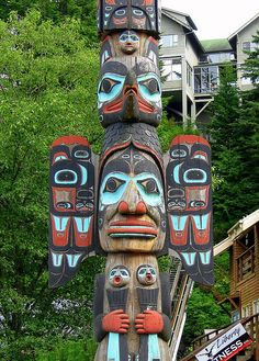 Ketchican, Alaska... The totem poles were breathtaking as were the stories that went with them