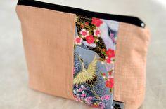 KOMACHI Täschchen - genäht von NORIKO handmade www.noriko-handmade.de #Kranich #Japan #japanische #Stoffe