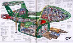 Thunderbird 2 by Graham Bleathman Geeks, Thunderbirds Are Go, Classic Sci Fi, Classic Toys, Technical Illustration, Animation, Sci Fi Ships, 3d Models, Science Fiction Art