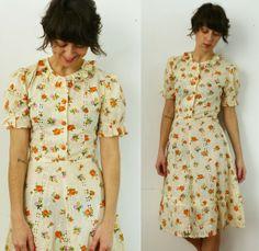 $88 # http://www.etsy.com/listing/69458307/vintage-30s-orange-blossom-eyelet-dress - SOLD -