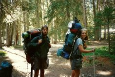 """Cheryl Strayed and Joshua (one of the """"Three Young Bucks"""") just off the PCT near Odell Lake in Central Oregon, August Camping Aesthetic, Summer Aesthetic, Travel Aesthetic, Trekking, Surf, Camping And Hiking, Backpacking, Kayak, Summer Bucket Lists"""