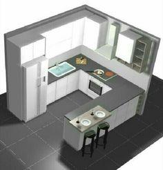 Kitchen Cupboard Designs, Kitchen Room Design, Modern Kitchen Design, Home Decor Kitchen, Interior Design Kitchen, Minimal House Design, Small House Design, Kitchen Layout Plans, Kitchen Modular