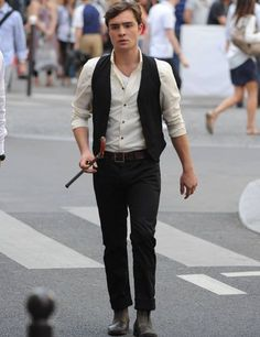 Chuck Bass in Paris was my favorite style moment from him!