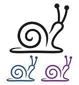 Cartoon Drawings, Easy Drawings, Art Mini Toile, Snail Cartoon, Snail Art, Mini Canvas Art, Simple Cartoon, Animal Cards, Rock Crafts