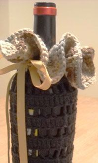 Crocheted Wine Cozy 101 – HOMEGROWN I want one of these.