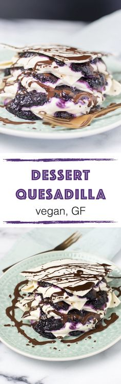 new* Easy Vegan Dessert Quesadilla Lately I'm craving something sweet. It's been a while since I posted a# dessert recipe. But the wait is over and I want to invite you all. Let us make this Easy #Vegan Dessert Quesadilla together! This sweet temptation is so easy to make in no time.: