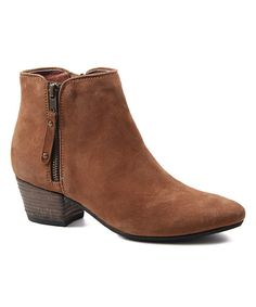 Look at this Cognac Oh Sage Suede Boot on #zulily today!