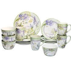 Shop for Certified International Herbes de Provence 16 -Piece Dinnerware Set. Get free delivery On EVERYTHING* Overstock - Your Online Kitchen & Dining Outlet Store! Get in rewards with Club O! Square Dinnerware Set, Dinnerware Sets, Purple Dinnerware, Ceramic Tableware, Dish Sets, Dinner Sets, Hand Painted Ceramics, Provence, Tea Pots