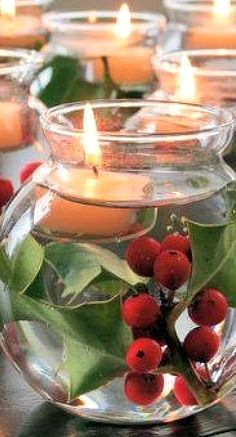 floating candles....