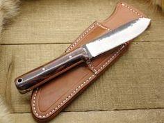 Lon Humphrey Custom Kephart, Flat Grind (Flat Tang) Fixed Blade Knives with Beautiful Wood Handles