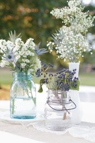 lavender and baby's breath wedding centerpieces - Google Search