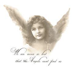 Vintage girl angel Digital collage p1022