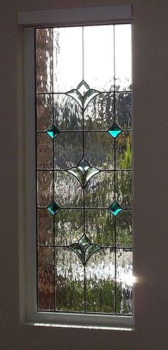 Duncan Flor di Li, Art Windows Custom Stained Glass Lovely and simple. And of course-turquoise! Leadlight Windows, Leaded Glass Windows, Stained Glass Door, Custom Stained Glass, Stained Glass Crafts, Stained Glass Designs, Stained Glass Panels, Stained Glass Patterns, Pvc Windows