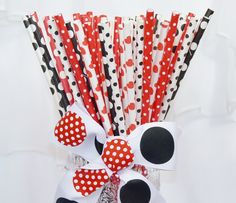 Mickey and Minnie straws!