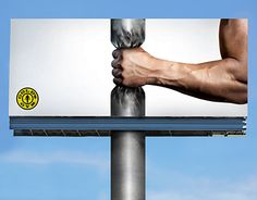 """Check out new work on my @Behance portfolio: """"Gold gym - billboard advertising"""" http://be.net/gallery/49474199/Gold-gym-billboard-advertising"""
