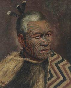 View A Maori Chief by Vera Cummings on artnet. Browse upcoming and past auction lots by Vera Cummings. Polynesian People, Polynesian Culture, Ta Moko Tattoo, Maori Tattoos, Maori People, Value In Art, New Zealand Art, Bone Carving, Global Art
