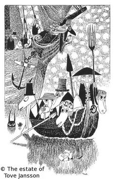 Tove Jansson's illustrations for The Hunting of The Snark by Lewis Carroll 08