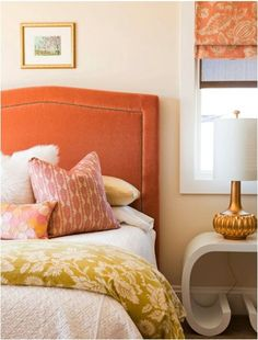alice lane orange velvet headboard bedding mix