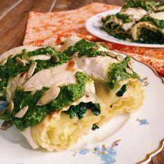 Green Lasagna Rolls