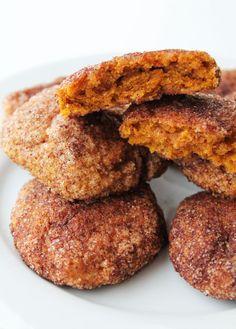 pumpkin snickerdoodle cookies naturally sweetened