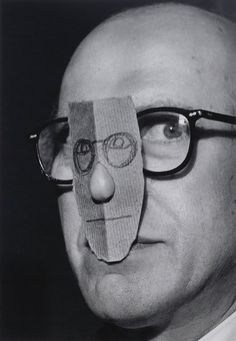 View Saul Steinberg with Nose Mask, Manhattan, 1966 (Circa By Inge Morath; Access more artwork lots and estimated & realized auction prices on MutualArt. Saul Steinberg, The New Yorker, Inge Morath, Creation Art, Nose Mask, Paper Mask, Art Brut, Illustration, Art Graphique