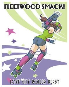 Customizable poster from DerbyGirlPosters.com