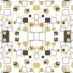 Mid-Century Modern - Retro Squares wallpaper - studiofibonacci - Spoonflower