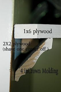 Crown molding shelves.. explained! Need this as a long shelf in the living room!