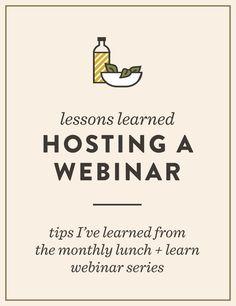Lessons Learned: Hosting a Monthly Webinar   Spruce Rd. #webinar