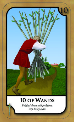 #SimplyTarotCard for Thursday 29th December 2016  10 OF WANDS  weighed down with problems. very heavy load. Join our news letter @ www.amandahallpsychic.com.au Lots of events and great special prices on products and services.  Like our FB Page https://www.facebook.com/amandahallpsychic/ Twitter: PsychicAmandaH Intsagram psychicamandah Pinterest:PsychicAmandaH Google+ : https://plus.google.com/u/0/