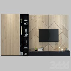 models: Other - TV shelf 10 Tv Unit Decor, Tv Wall Decor, Wall Decor Design, Wall Tv, Tv Wall Furniture, Tv Unit Furniture Design, Living Room Tv Unit Designs, Interior Design Living Room, Tv Shelf Design