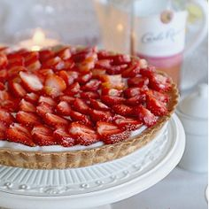 Mother's day tart with strawberries. Not too sweet