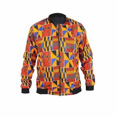 Introducing The African Print Bomber Jacket For Only Place You Order Now. You Can Choose Your Own Fabric XS -XXL Materials: African Print Fabric Zipper Cotton African Shirts, African Print Dresses, African Dress, African Inspired Fashion, African Print Fashion, African Attire, African Wear, Modern African Clothing, Costume Africain